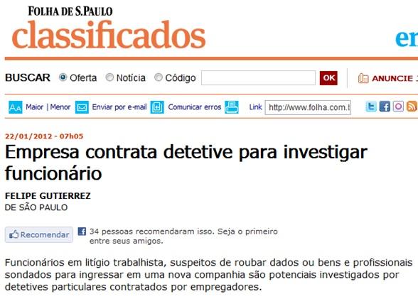 Reportagem Folha